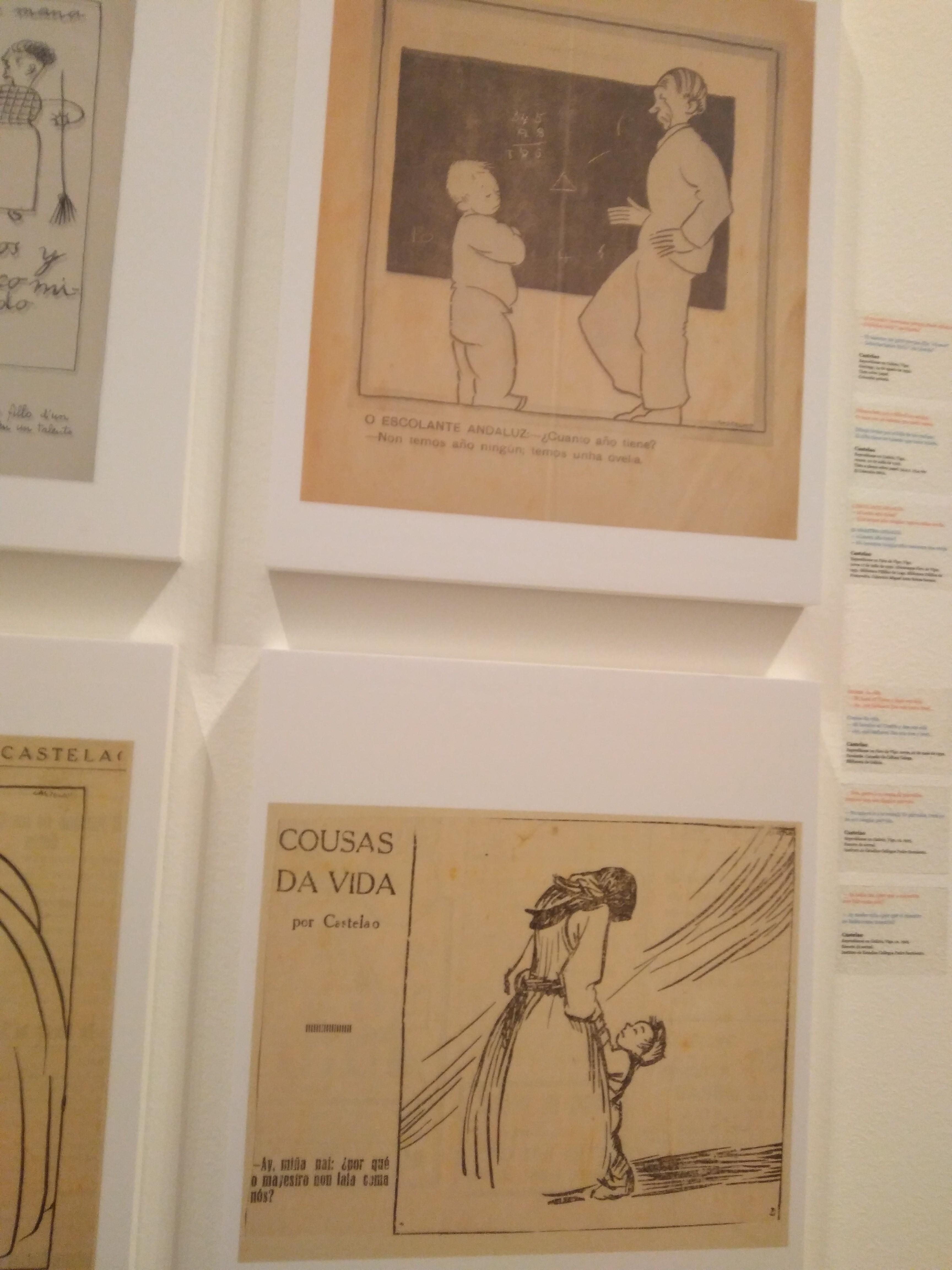 Sibujos en tinta sobre papel de Castelao