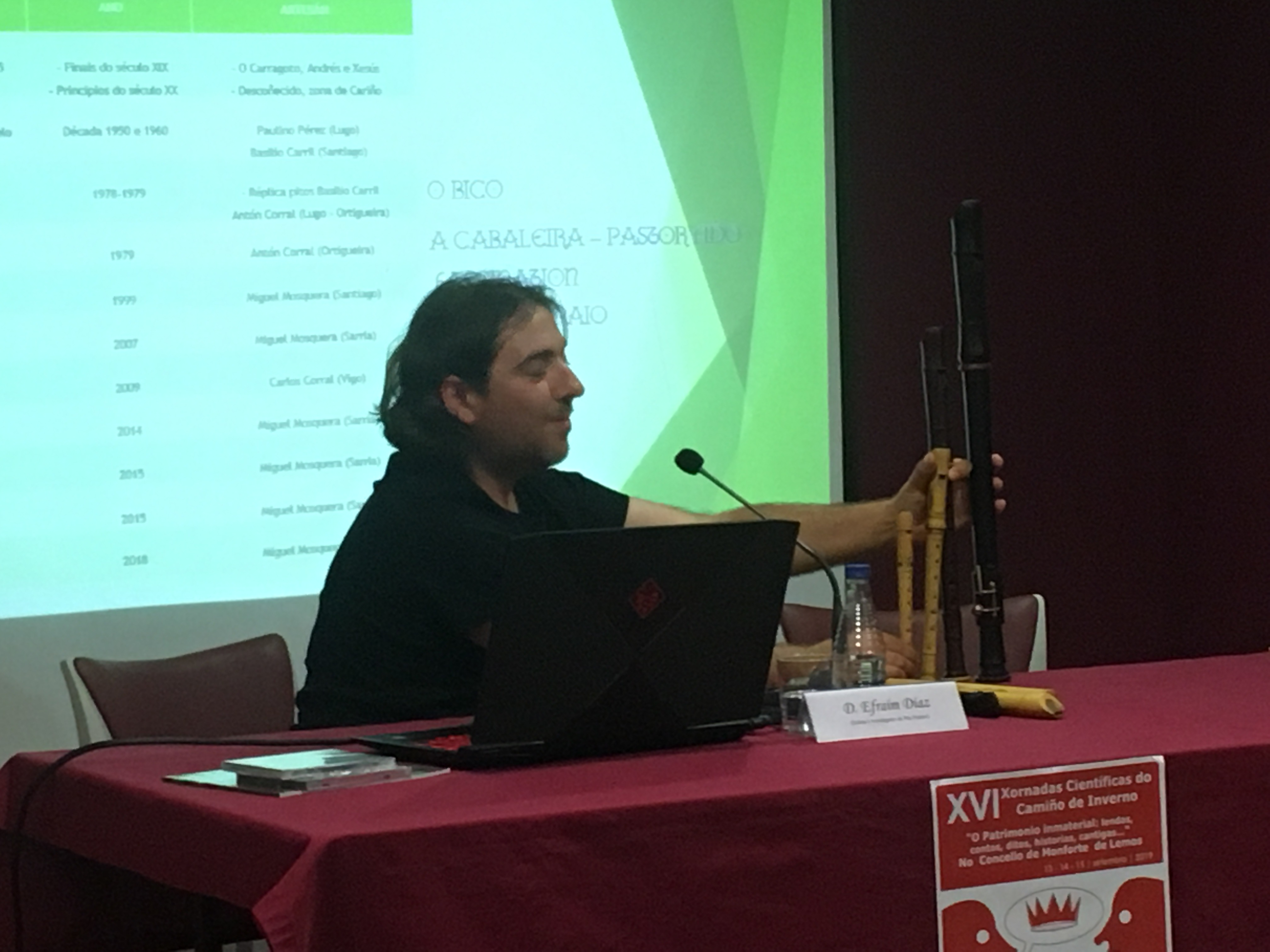 Segunda conferencia del músico e investigador Efraim Diaz