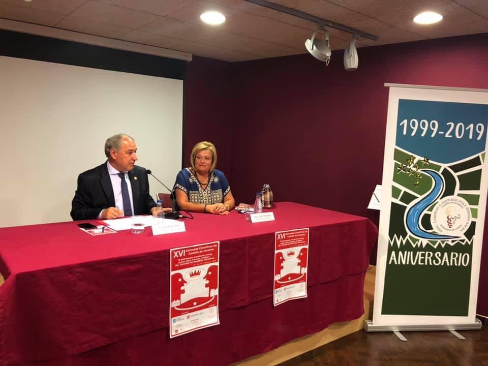 Inauguración con el Alcalde de Monforte- Presidente Diputación Lugo