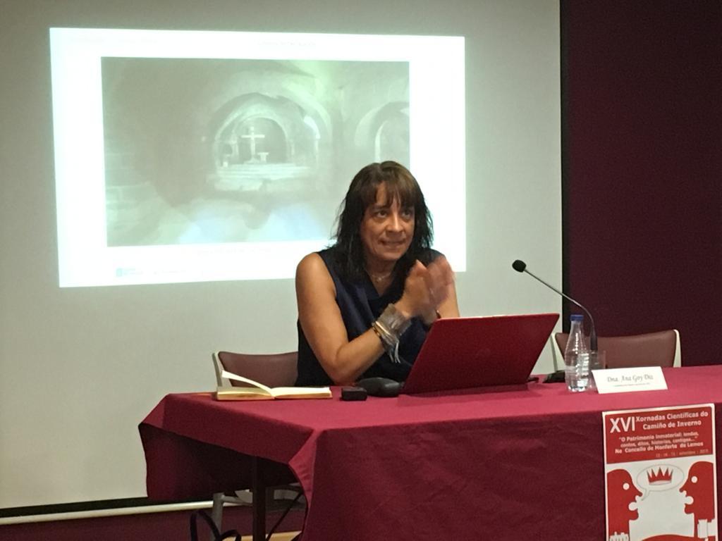 Primera conferencia de  la Catedrática de la USC, Ana Goy Diz