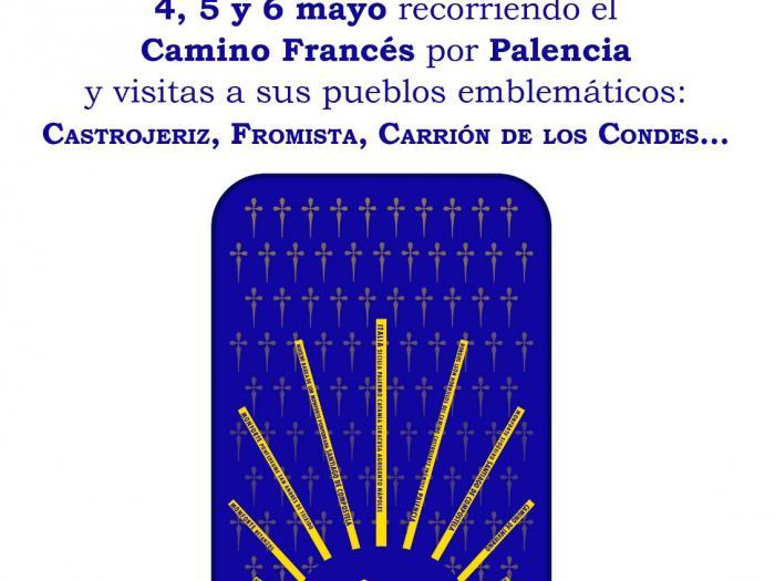 Próximo viaje de la asociación del Camino de Invierno por Ribeira Sacra a Palencia y recorrrido por el Camino Francés