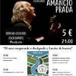 AMANCIO PRADA cantará en Monforte de Lemos por el 20 Aniversario de la Asociación del Camino de Invierno por  Ribeira Sacra