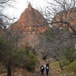 La Asociación del Camino de Invierno ha inciado la peregrinación por el Camino de Invierno desde Ponferrada a Las Médulas